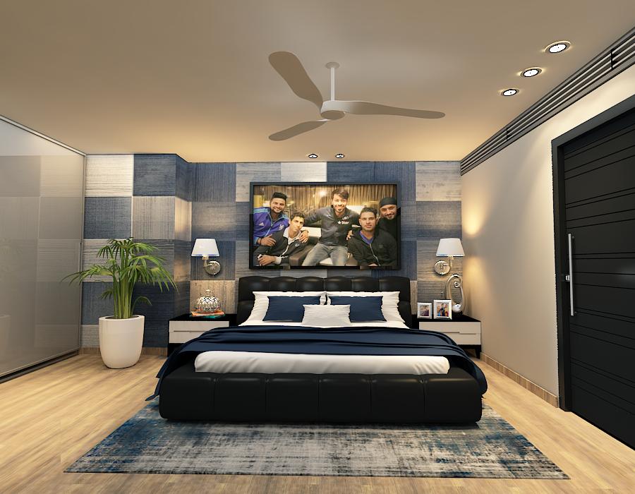 HArdik Pandya Bed Room
